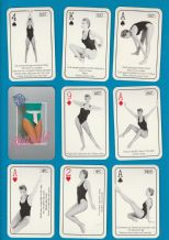 Collectible playing cards. Shape-up woman exercising progarm